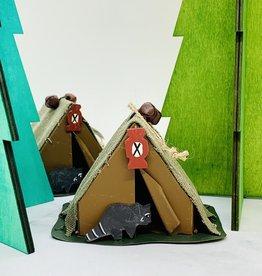 """4-1/4""""H Canvas Tent Ornament"""