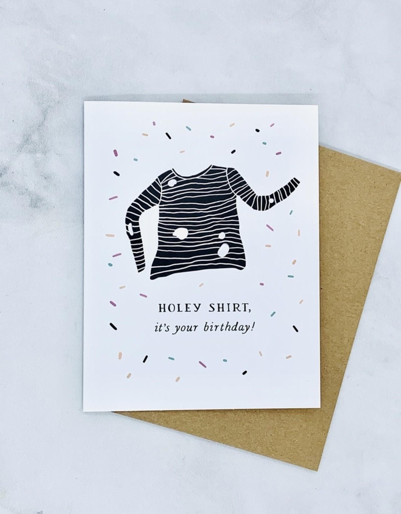 Holey Shirt Birthday Card