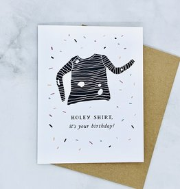 Party of One Holey Shirt Birthday Card