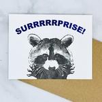 Surprise Raccoon Card