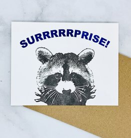 Surprise Raccoon Card