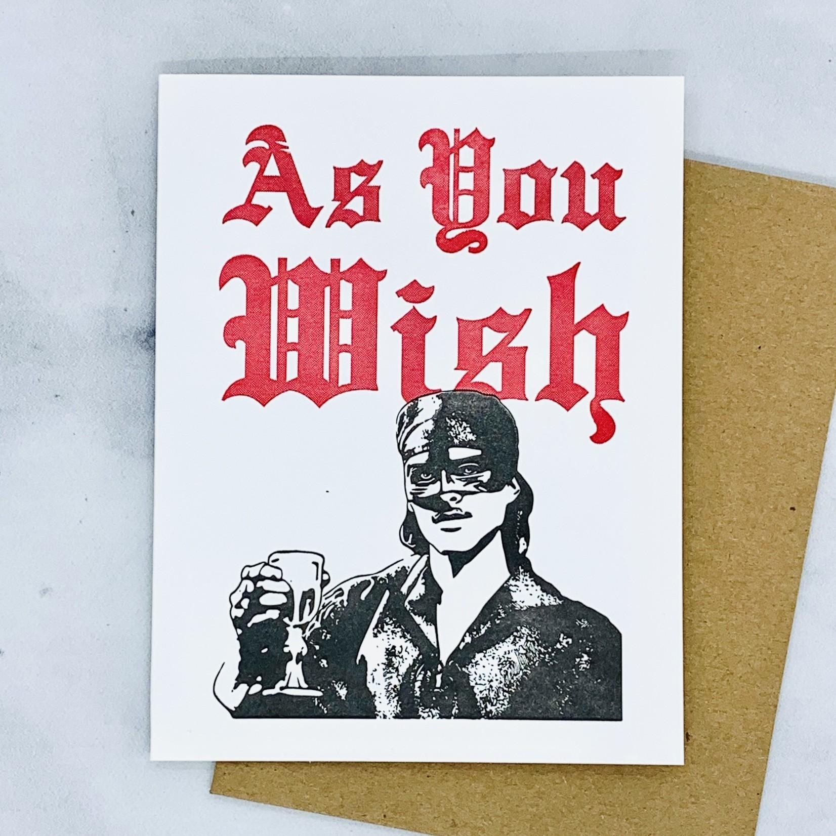 As You Wish Card