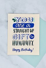 Gift To Humanity Sticker Birthday Card