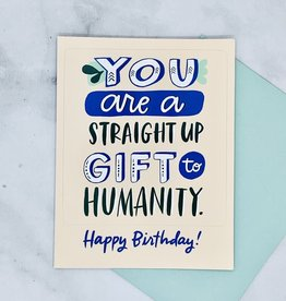 Gift To Humanity Sticker Birthday Card