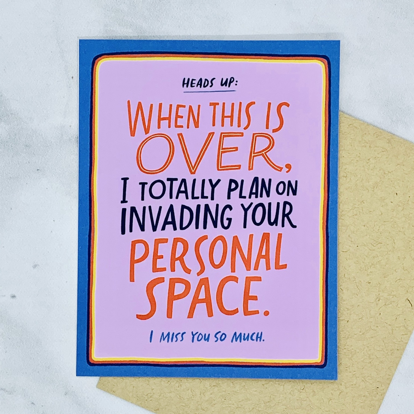 Personal Space Card