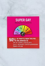Super Gay Enamel Pin