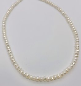 """MMA 15"""" White Cultured Freshwater Pearl Necklace"""