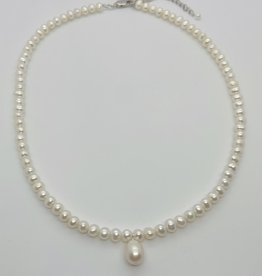 """MMA Cultured Freshwater Pearl Drop Necklace, 16""""+2"""""""