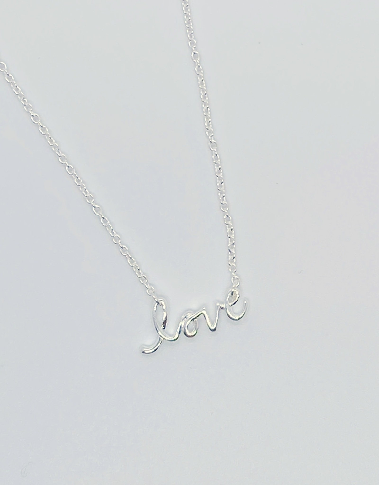 Sterling Silver Tiny Love Necklace
