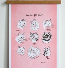 "Stay Home Club Names for Cats 11""x17"" Print"