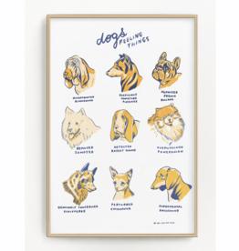 "Dogs Feeling Things 11""x17"" Print"