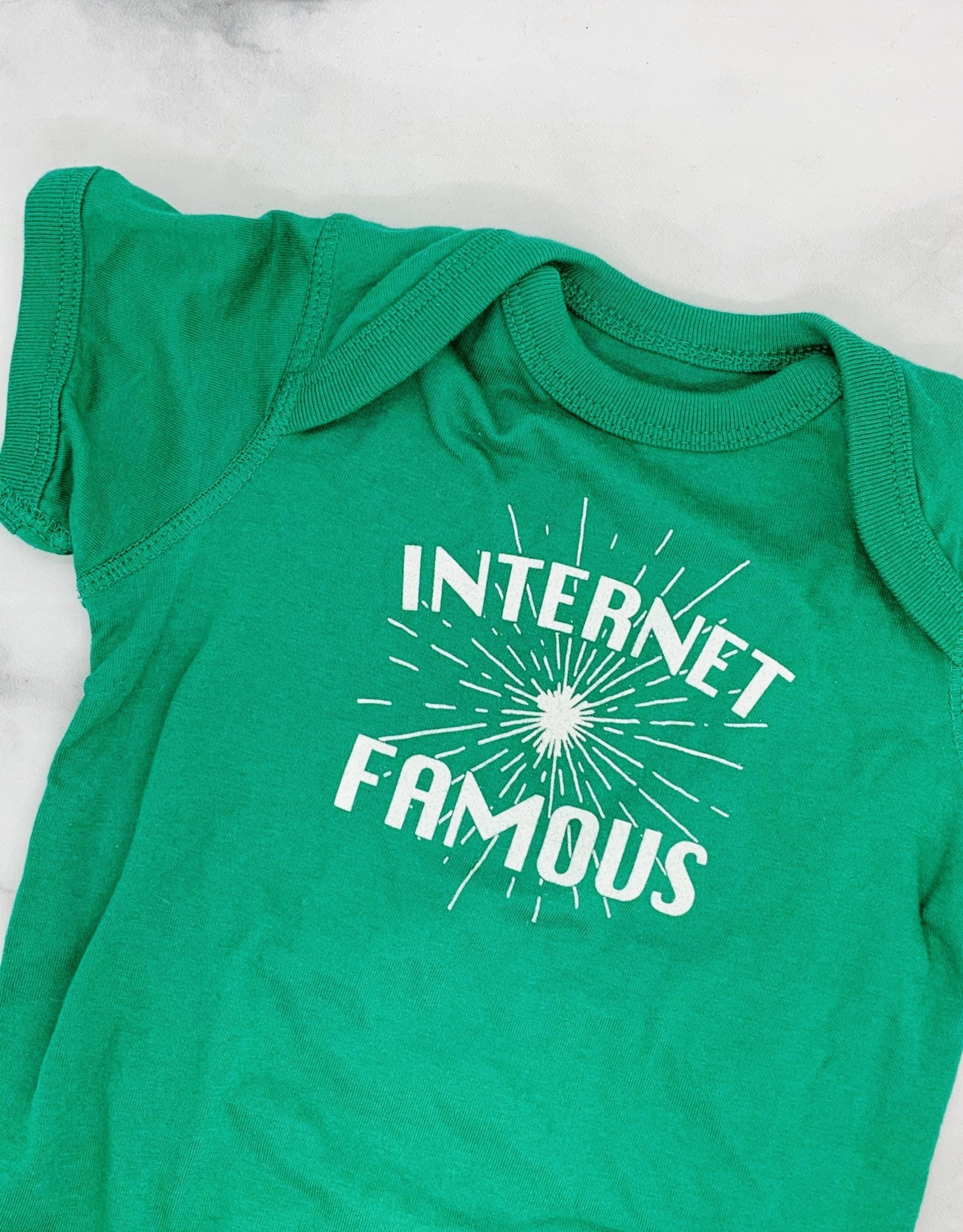 Internet Famous onesie, Kelly Green, 6-12 month