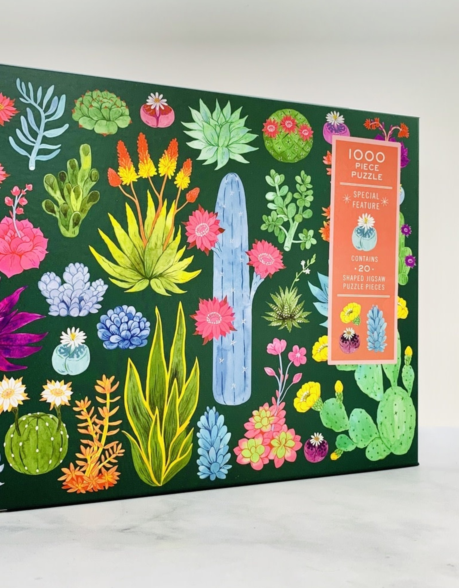 Desert Flora 1000 Piece Puzzle with Shaped Pieces