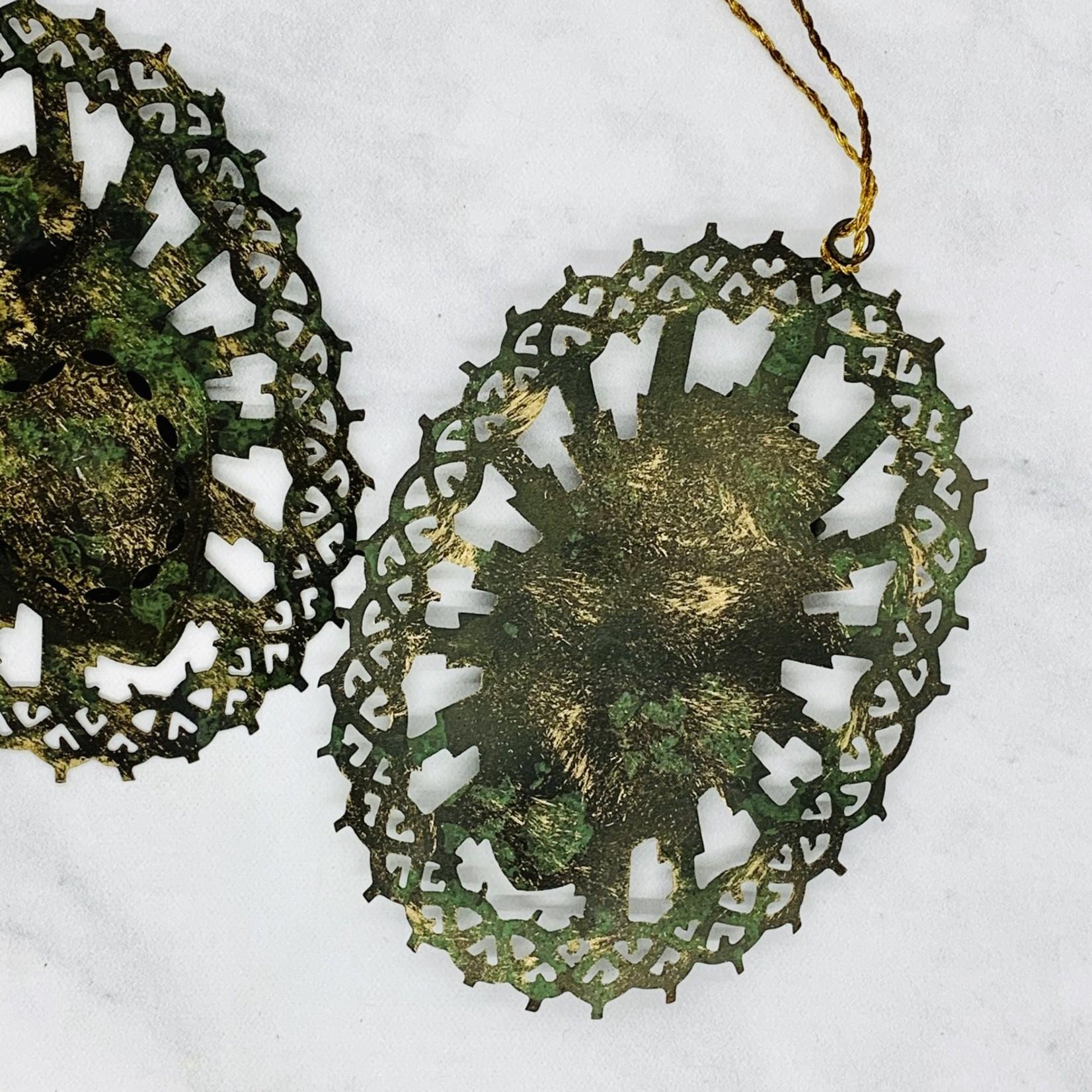 Metal Sacred Heart Ornament.
