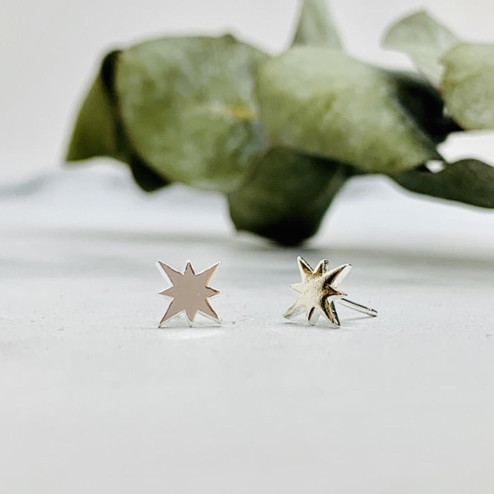 8-point Star Stud Earrings, Sterling Silver