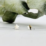 Star Stud Earrings, Silver