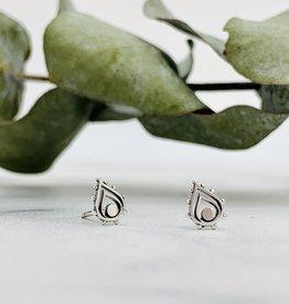 Fancy Teardrop Stud Earrings