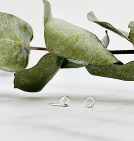 Tiny Open Circle Stud Earrings