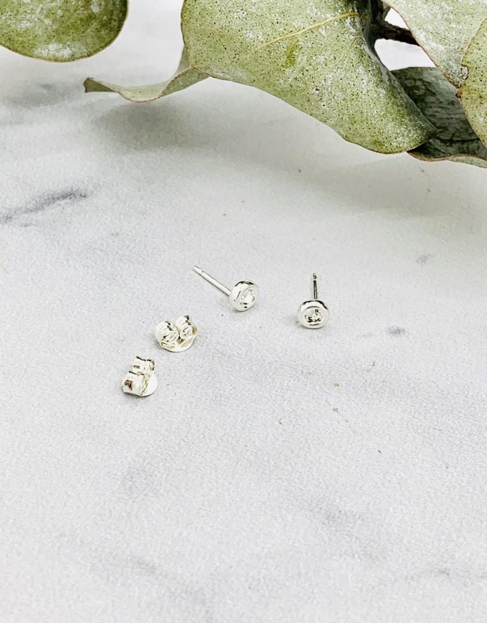 Tiny Open Circle Stud Earrings
