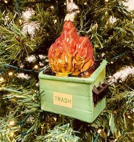 Dumpster Fire Blown Glass Ornaments