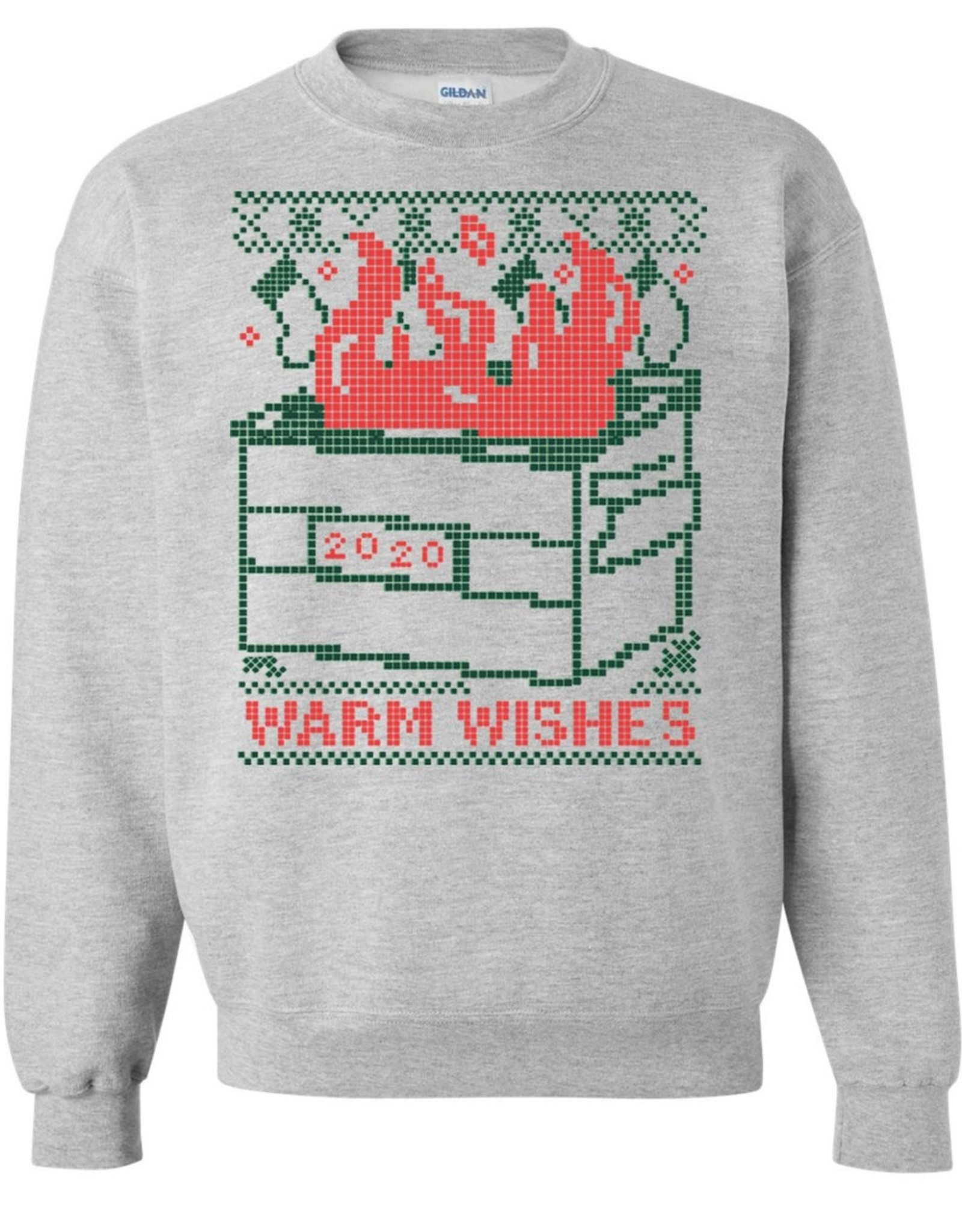 Warm Wishes Dumpster Fire Sweatshirt