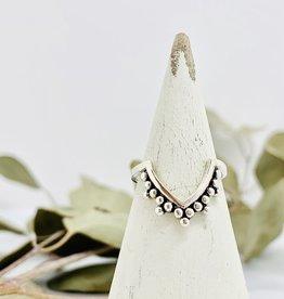 Sterling Silver Bali V-Shaped Ring