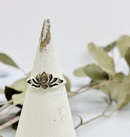 Silver Lotus Silhouette Ring