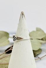 Silver Lotus Silhouette Ring