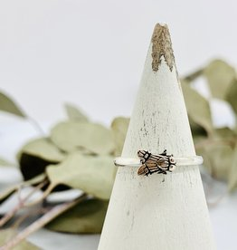 Silver Tiny Fly Ring