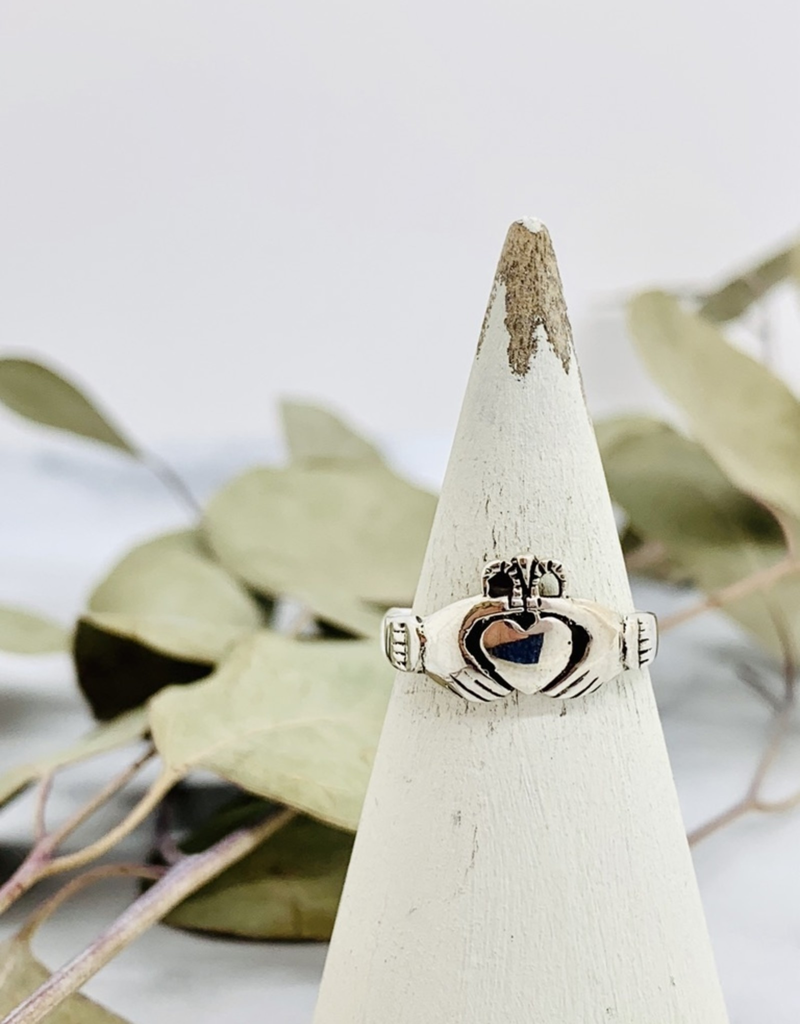 Heavy Silver Claddagh Ring