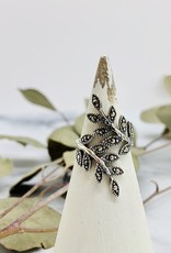 Marcasite Leaves Wrap Ring