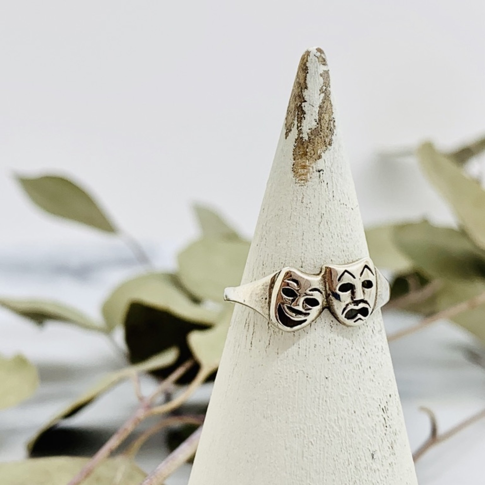 Silver Comedy Tragedy Ring