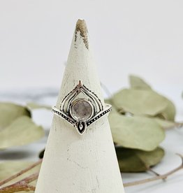 Silver and Moonstone Pinnacle Ring