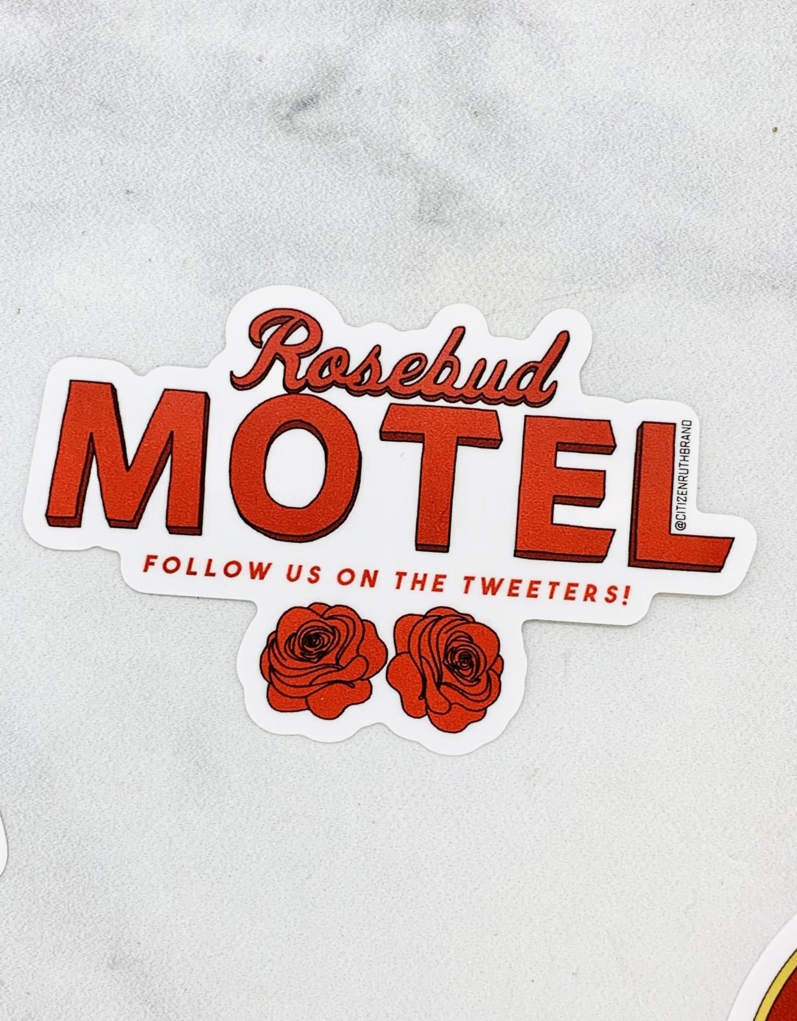 Rosebud Motel Sticker