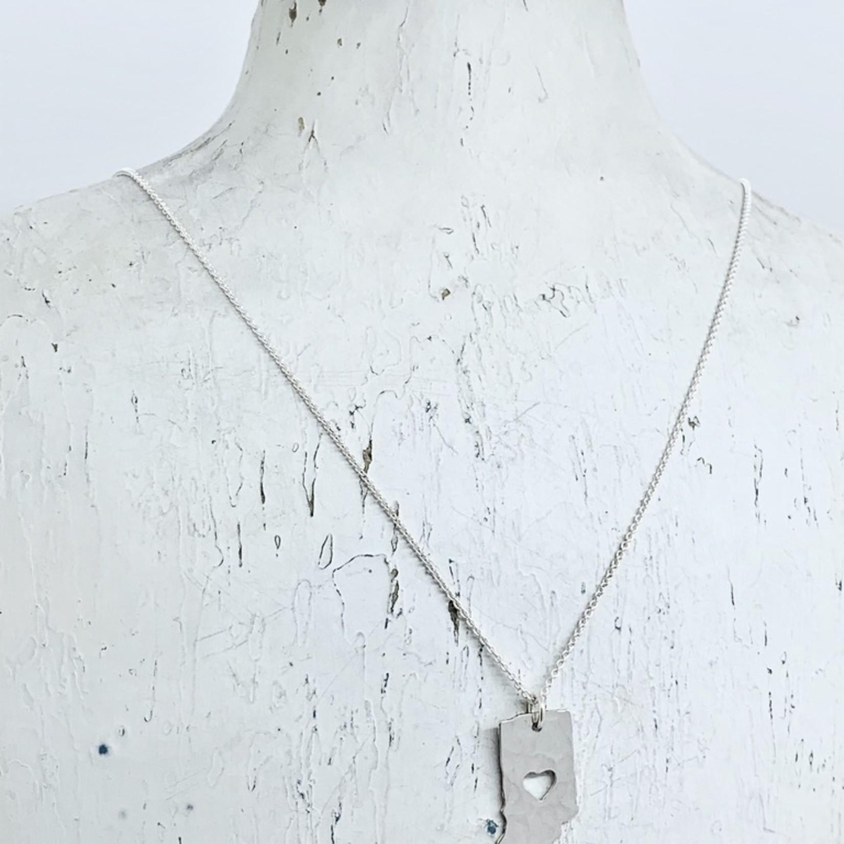 Brushed Silver Tiny Indiana Necklace