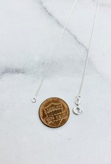 Handstamped Sterling Silver Tiny Indiana Charm Necklace