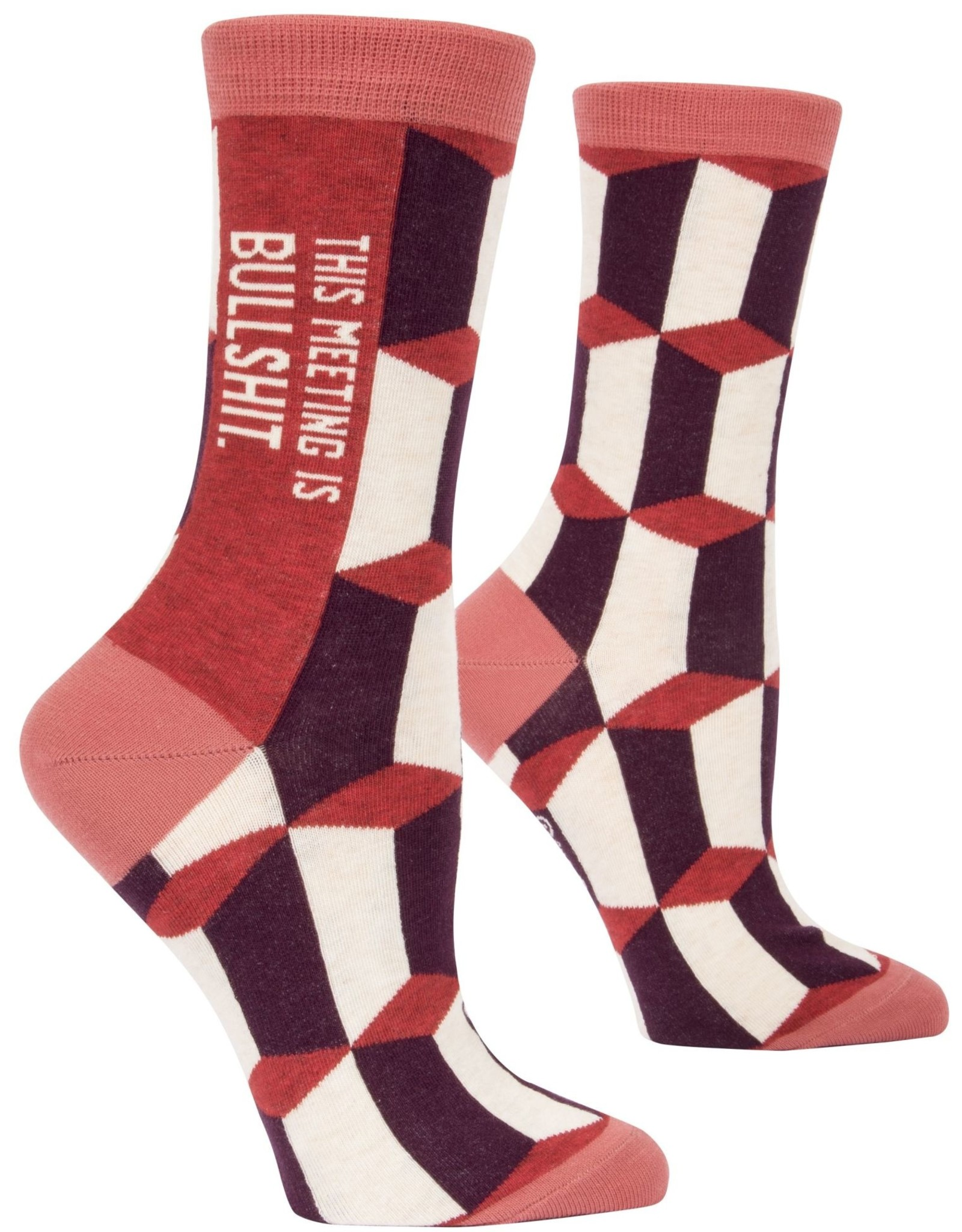 Meeting is Bullshit Women's Crew Socks