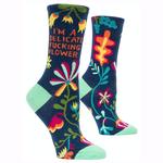 Delicate Fucking Flower Women's Crew Socks