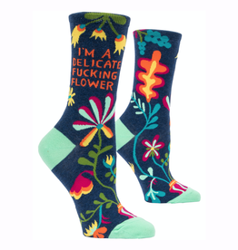 Delicate Fucking Flower Women's Crew Socks