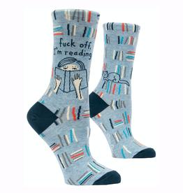Fuck Off, I'm Reading Women's Crew Socks