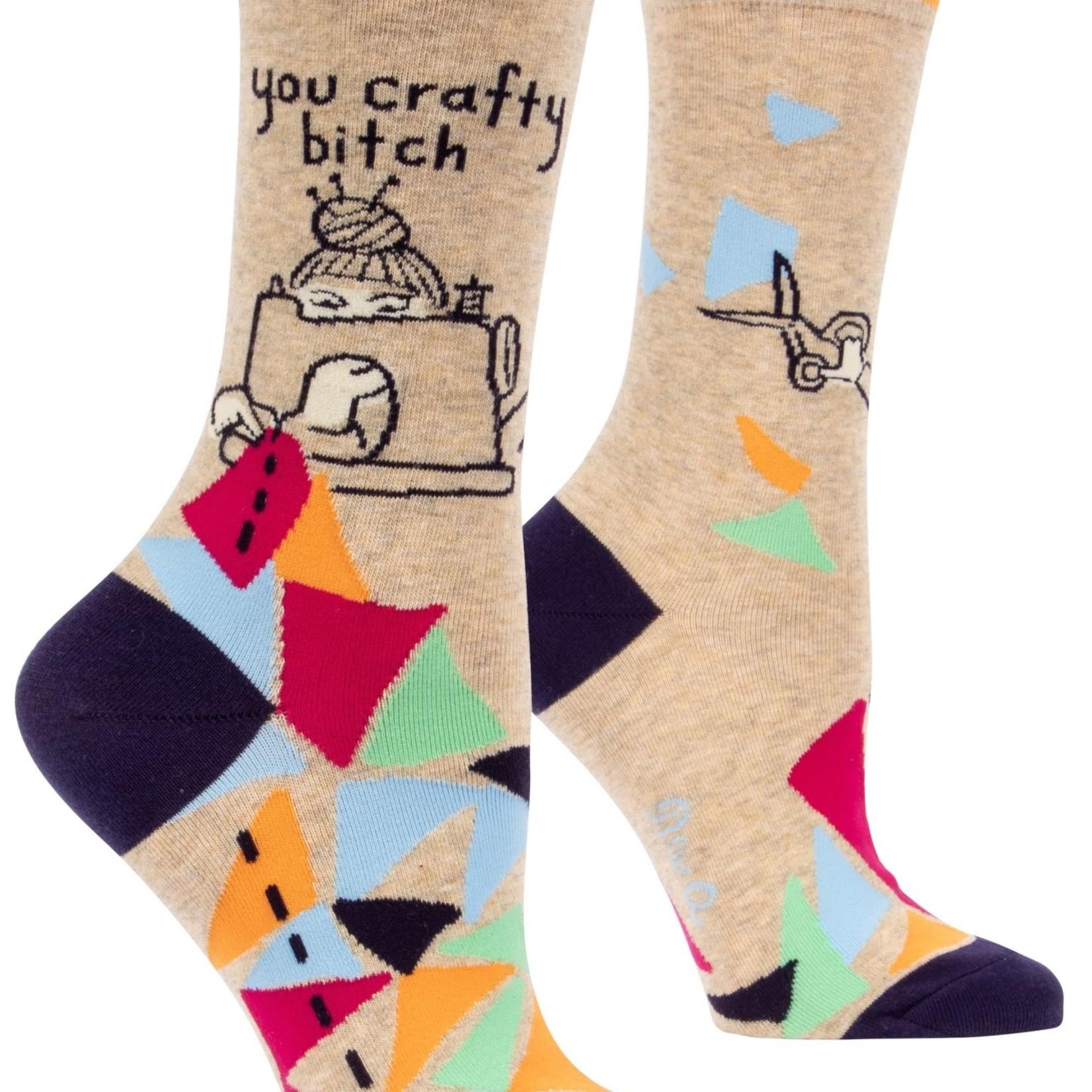 You Crafty Bitch Women's Crew Socks