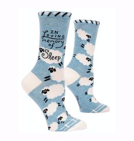 Loving Memory of Sleep Women's Crew Socks