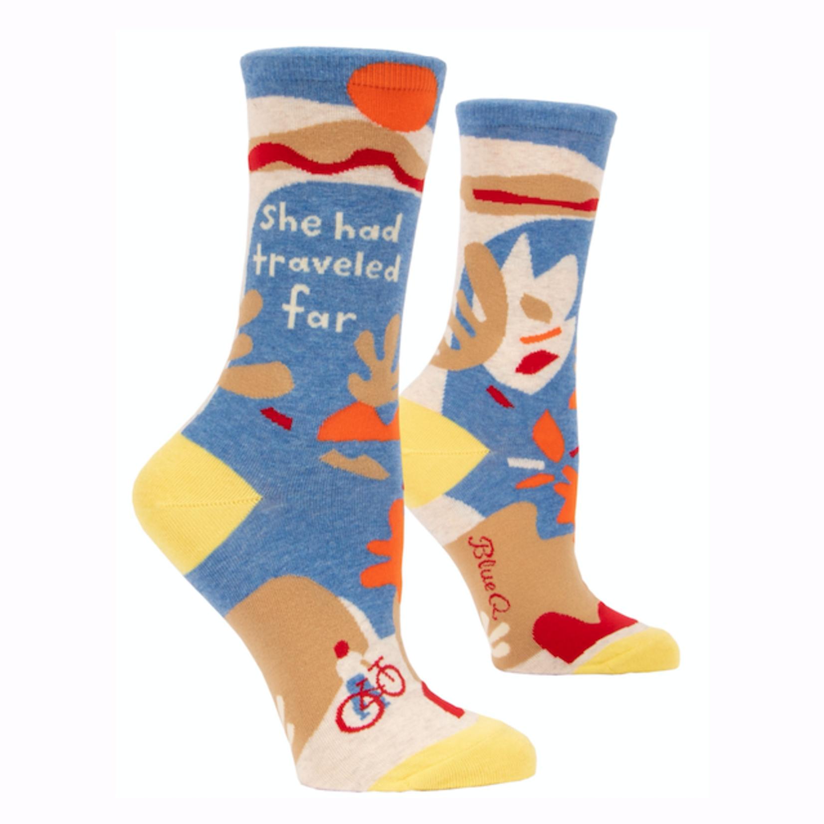 She Had Traveled Far Women's Crew Socks