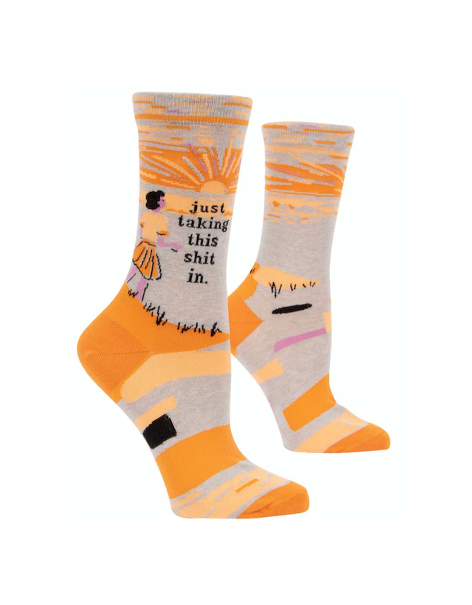 Taking Shit In Women's Crew Socks
