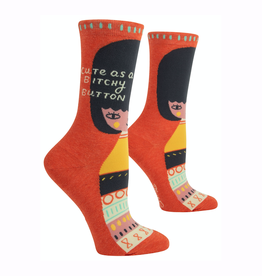 Bitchy Button Women's Crew Socks