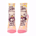 Girl Takes No Shit Women's Ankle Socks