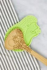 Green Hedgehog Ceramic Spoon Rest