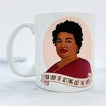 "Stacey Abrams ""Our Lady of Voting"" Mug"