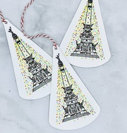 Holiday Monument Letterpressed Ornament