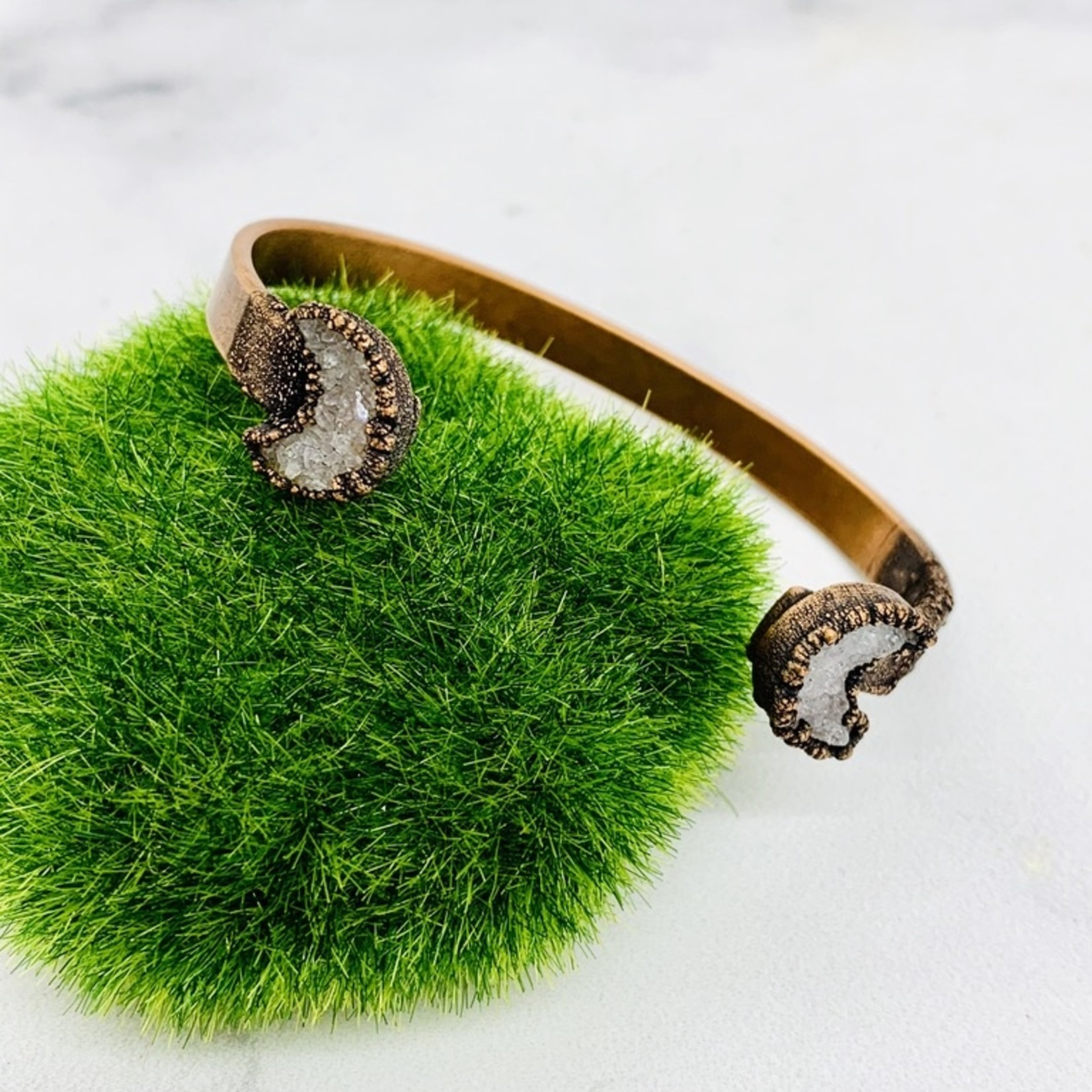 Copper Cuff Bracelet with Electroformed